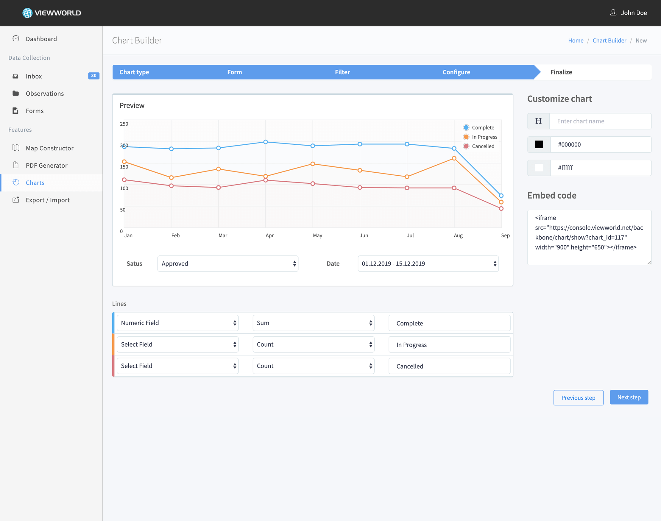 Viewworld - Chart Builder Screenshot